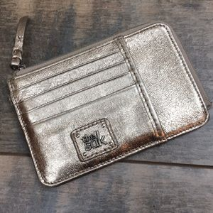 The Sak Iris silver card wallet